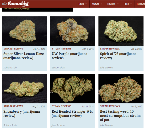 Strain Reviews from the Cannabist